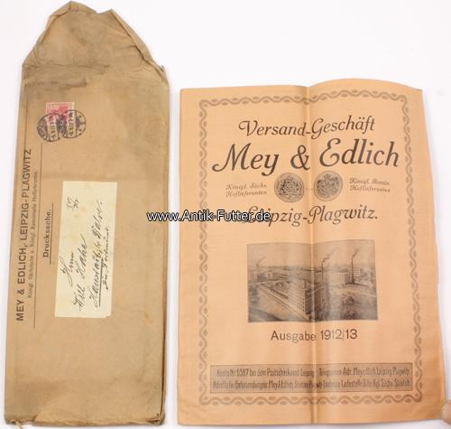 1912 13 leipzig plagwitz katalog mit umschlag versand for Versand katalog