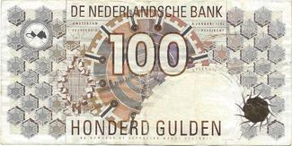 100 gulden 1992 NETHERLANDS Pick: 101 VF