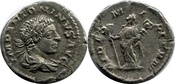 AR Denarius AD 218-222  Elagabalus AD 218-222 SS+VZ