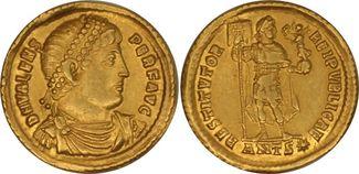 AU Solidus c. 364–378 AD Rome Valens. C, Antioch SS+VZ