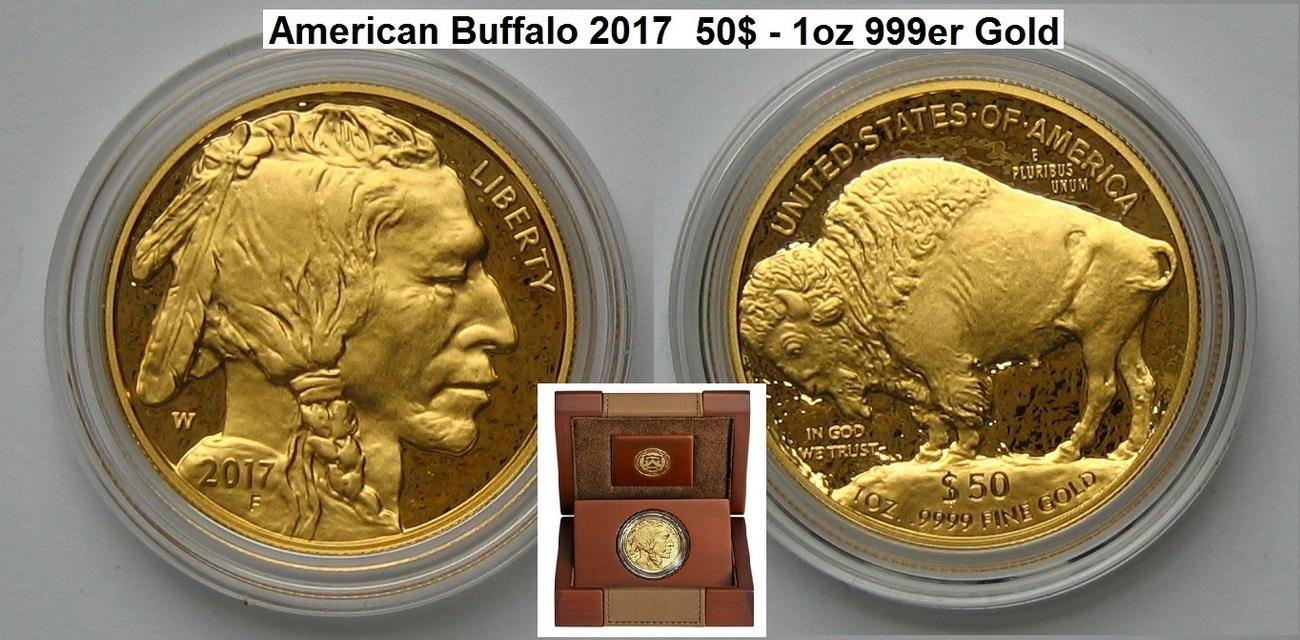 Usa American Buffalo Gold Coin Auflage